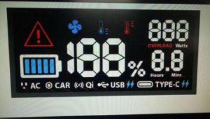 緑のバックライトが付いているLCDのコグのモジュールの表示