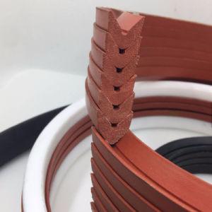 De sterke van de Katoenen van de Kleur van de Schuring Oranje RubberVerbinding Olie van de V-vorm