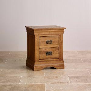 無作法な型のカシの純木2の引出しの枕元のNightstandの寝室の家具