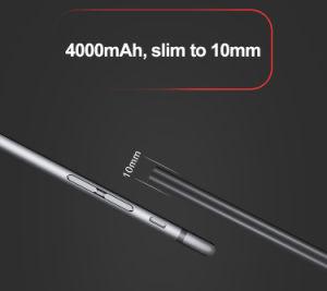 Banco de potencia de 4000mAh con puerto de carga USB incorporada en el cable Super Slim Banco de potencia