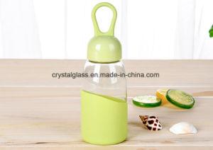 Het creatieve Water laat vallen de Transparante Fles van het Glas