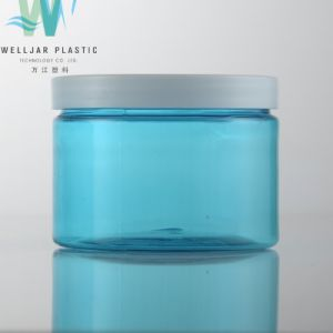 최신 판매 250ml 300ml 투명하거나 파란 Pleastic 애완 동물 단지
