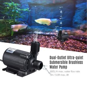 Fuente de Suministro de agua de estanque con peces anfibios bombas centrífugas de caudal DC 12V 800L/H 3m de elevación