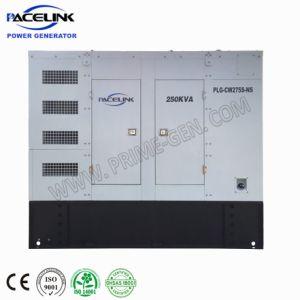 250kVA Cummins tipo dosel altamente personalizadas Powered de generación diesel insonorizados con espacio limitado