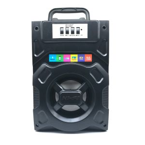 Venta caliente altavoz inalámbrico portátil con Bluetooth con luz LED de madera