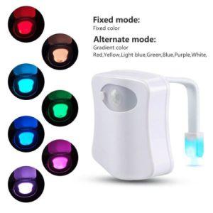 Detecção automática de toucador luz noturna LED de luz de fundo do Sensor de movimento para o Vaso Sanitário de banho 8 WC Cor Luz noturna para as crianças a criança