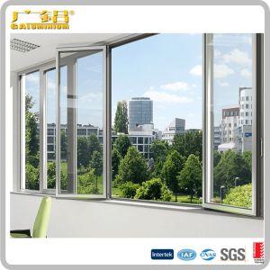 Алюминиевый корпус с двойной или одного стекла дверная рама перемещена тент окно со встроенным ножи и защитный экран
