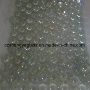Venta caliente decoración colorida microesferas de vidrio plano para pelota
