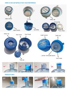 100% Nuevo Non-Spill Botella de agua de plástico de cubierta de la tapa superior de la tapa para botella de 5 galones 18,9L 19L 20L Bottle Cap