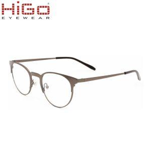 Recentste ModelOogglazen, de Glazen van de Lens van de Cirkel, Roestvrij staal Eyewear