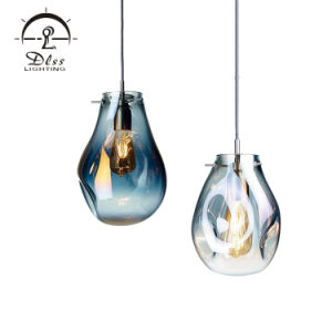 Fantasía LED lámpara colgante lámpara colgante Pantalla de Vidrio para Hotel