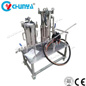 Filtro a sacco mobile Polished sanitario dell'acciaio inossidabile con la pompa ad acqua