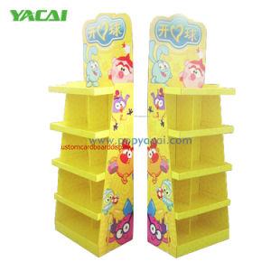 Multi Zellen-Pappbildschirmanzeige-Zahnstangen für Spielwaren, Papierausstellungsstand