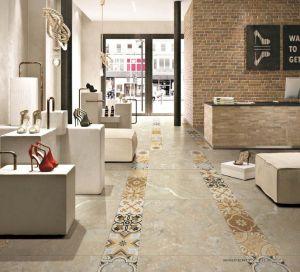 壁および床のためのベージュカラー磁器及び陶磁器の磨かれたマットによって艶をかけられる無作法なタイル