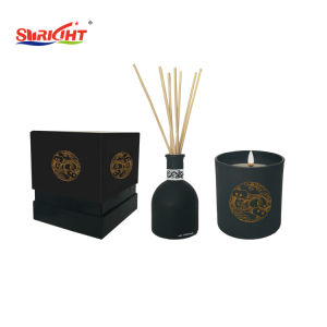 Gelber kleiner Sonnenblume-Geruch-Glasglas-Kerze für Förderung