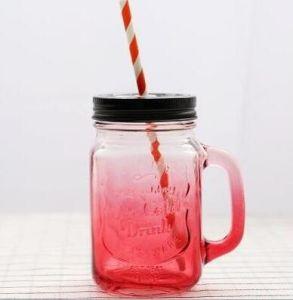 Color Lidsの勾配Color Glass Bottle Mason Jar