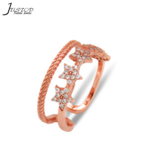 Estrela mulheres imitações de anel de diamantes jóias