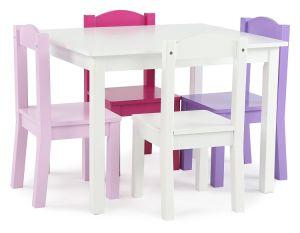 جدي خشبيّة ثبت طاولة & 4 كرسي تثبيت (أحمر/زرقاء/اللون الأخضر/صفراء)