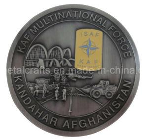 金属の旧式な銀3D米国の警察は挑戦する2つの調子のめっき(022)の記念する硬貨に
