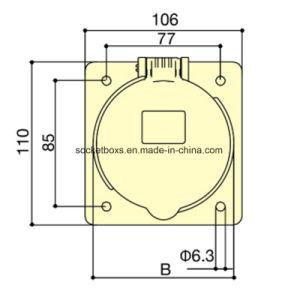 Ampère 63une norme européenne IP44 Industrial et fiches mâles et femelles de l'alimentation multiphase de Dark (angle)
