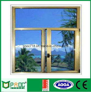 Finestra di alluminio della stoffa per tendine con doppio vetro