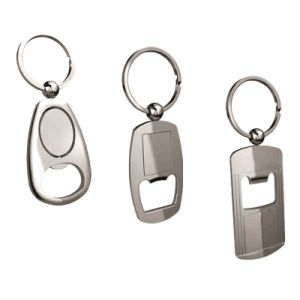 亜鉛合金のバルセロナの安いカスタム金属はKeychain (001)のビール瓶のオープナを開くことができる