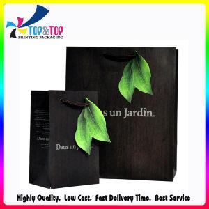 Sacco verde del regalo della carta del foglio