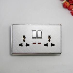 Reino Unido Estándar Doble Mf /zócalo universal con el interruptor Neon