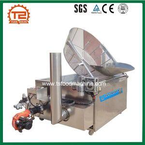 Friggitrice profonda in lotti del plantano del gas della ciambella Heated delle patatine fritte che frigge macchina
