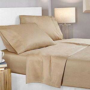 Hotel Super suave Sábana con tejido de la banda de 3cm.