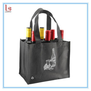 2018 Personnaliser le logo de sacs-cadeaux de bouteille de vin titulaire de l'emballage