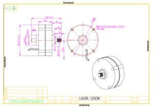 100W 12V/24V niedriger U/Min Pmg Dauermagnetgenerator in der Sicherheit