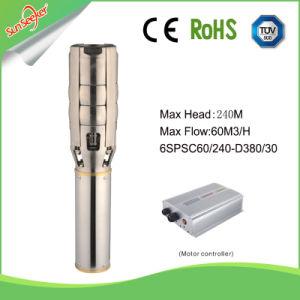 4 pulgadas de alta velocidad de salida de la Energía Solar pozo profundo bomba con la cabeza de 100-180m