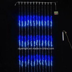 0503210739b Cascada Multicolor Digital vacaciones luces LED para decoración de Navidad