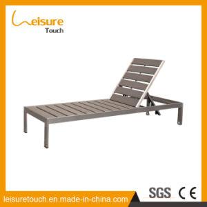 Nuevo estilo Light-Fastness gris de alto grado de madera de plástico Playa, Piscina, tumbona