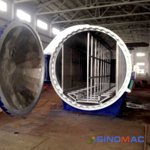 가득 차있는 자동화 (SN-BGF2860)를 가진 산업 박판으로 만들어진 유리 오토클레이브
