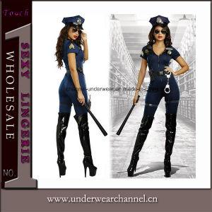 El carnaval de niñas de adultos las mujeres sexy disfraz de Halloween de charnela Cop (TCLP3022)