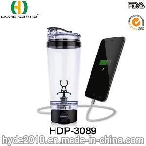 2017 recentemente bottiglie di acqua di plastica dell'agitatore del USB 600ml di vortice elettrico della carica posteriore