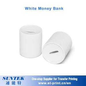 A sublimação Branco Banco dinheiro para moedas Decoração Toy