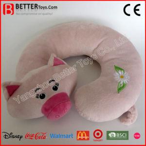 Corsa a forma di U Neckpillow del giocattolo molle del maiale dell'animale farcito