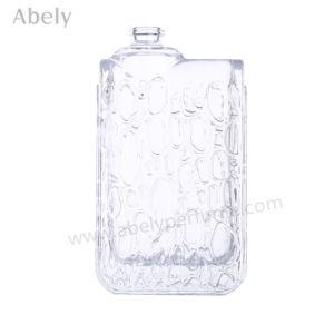 3.4FL. Oz bouteille de parfum en verre avec une élégante décoration de chute de pluie
