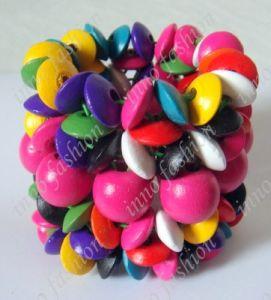 De Kleurrijke Houten Armband van de manier (iNNO-B-0103-28)