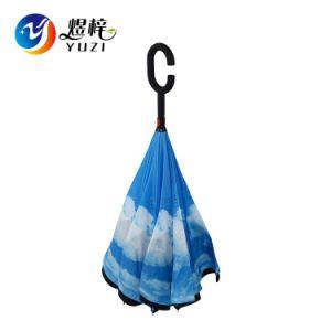 Nuevo invento de doble capa C Asa con forma de paraguas invertido atrás