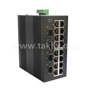 4 X óptico SFP 1000Mbps y 16 x puertos 10/100Mbps puertos eléctricos