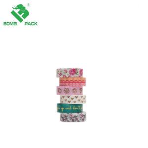 Het nieuwe Kleurrijke Aangepaste Document Washi die van het Ontwerp Plakband maskeren