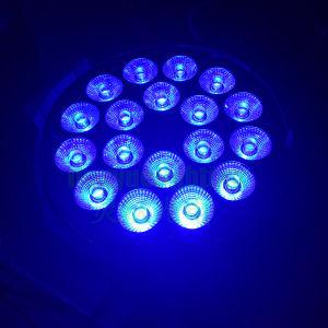 En el interior 18x18W RGBWA+UV LED DMX Iluminación de escenarios de la luz de par