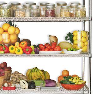 4 صفوف تجاريّة فندق مطبخ بهار خضرة أو ثمرة تخزين من ترفيف وحدة