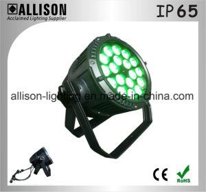 ALS PAR discoteca de alta calidad 6-en-1 de la luz LED Rgbwauv 18x15W