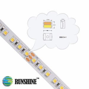 DC 12V 24V 60LEDs/M3527 SMD LED endereçável CCT luz de faixa