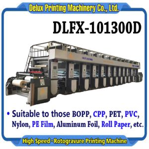 전자 샤프트 드라이브 - 기계 (DLFX-101300D)를 인쇄하는 고속 자동적인 윤전 그라비어